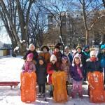 Зимни игри в детската градина!
